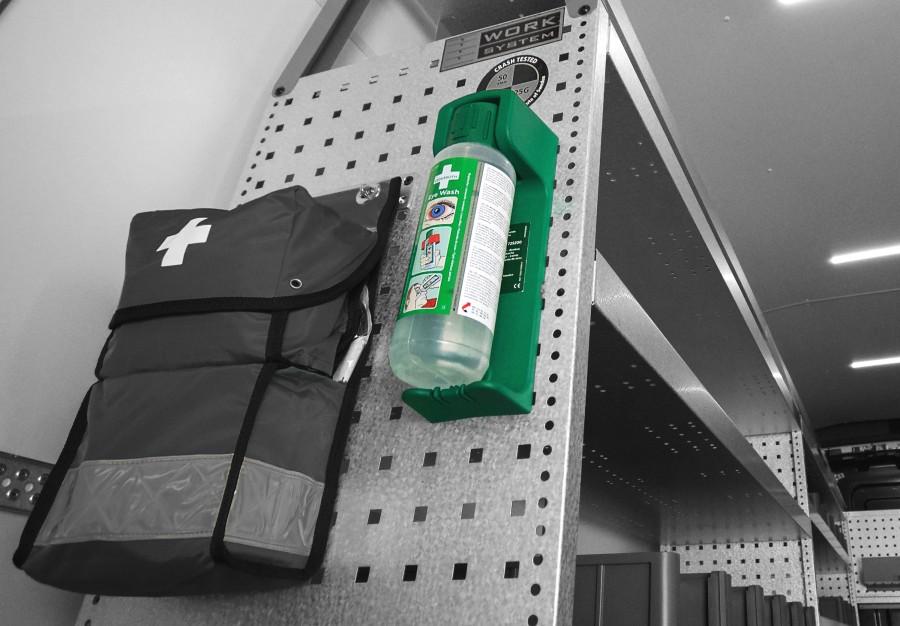 Voorbeeld van de diefstalbeveiliging van Work System.