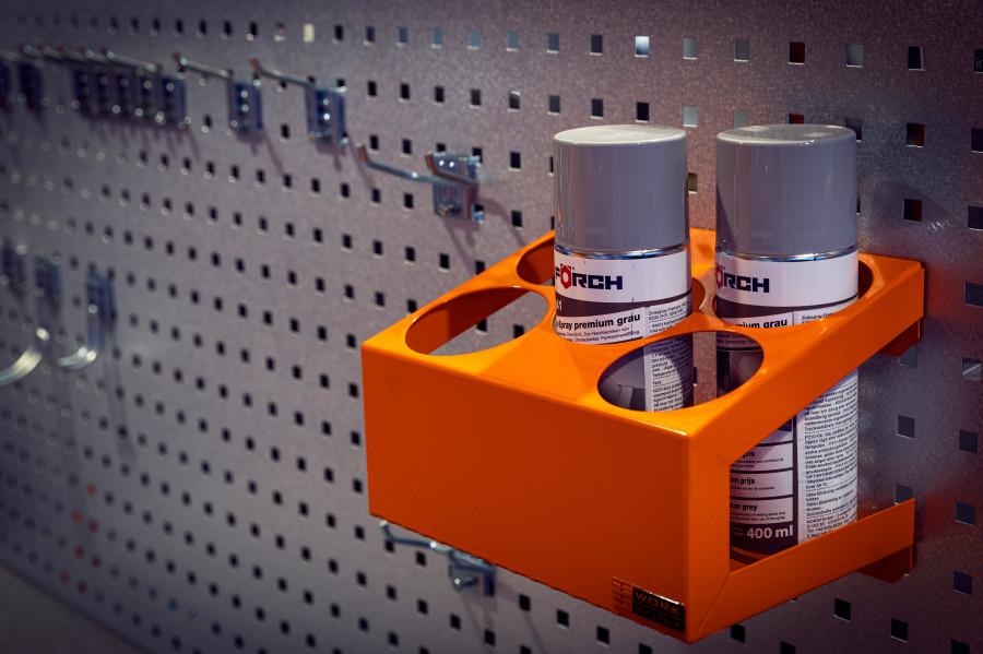 Haken en andere accessoires voor panelen en gereedschapshouders