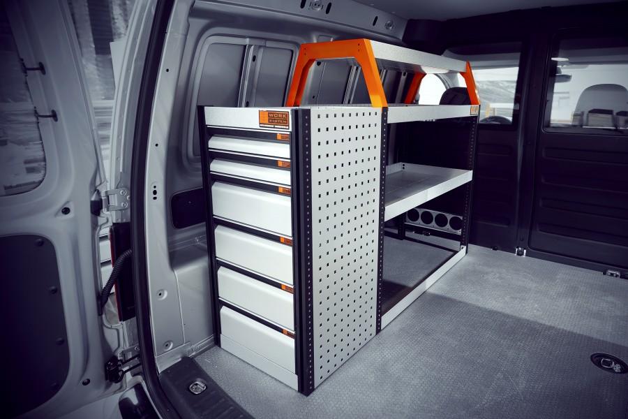 V-LB6 Bedrijfswageninrichting VW Caddy L1 | Work System