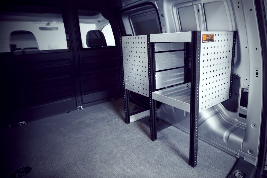H-SDH3-420 Bedrijfswageninrichting voor VW Caddy | Work System