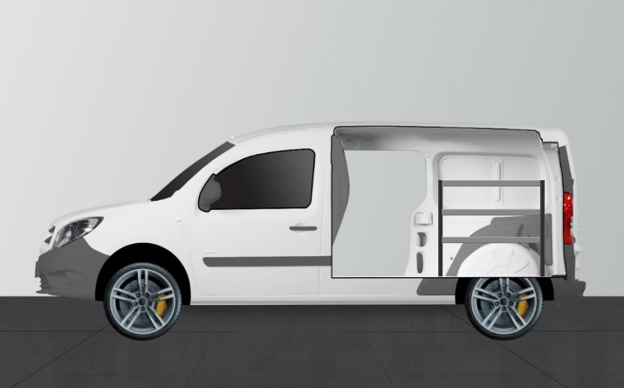 H-Bas Bedrijfswageninrichting Citan Extra Lang & Kangoo | Work System