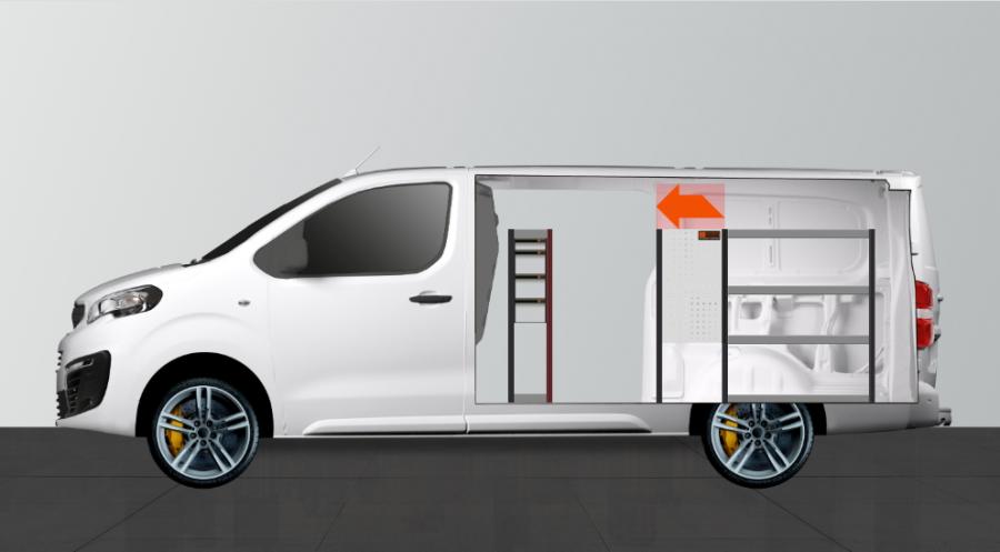 H-SDH4 Bedrijfswageninrichting Expert, Jumpy & ProAce | Work System