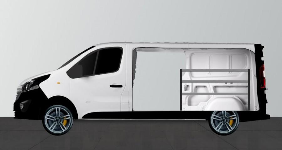 H-Bas Bedrijfswageninrichting Mercedes Vito Lang | Work System