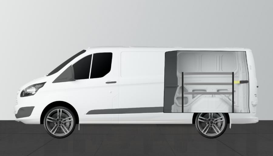 H-Bas Bedrijfswageninrichting Ford Custom Double Cab | Work System